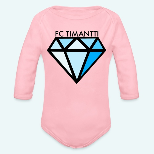 FC Timantti mustateksti - Vauvan pitkähihainen luomu-body