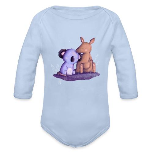 Koala und Känguru - Baby Bio-Langarm-Body