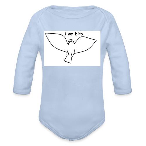 i am birb - Organic Longsleeve Baby Bodysuit