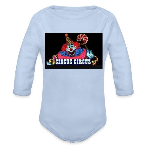 CLOWN - Body ecologico per neonato a manica lunga
