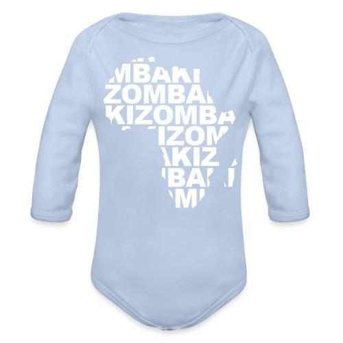 Kizomba mapa África - Body orgánico de manga larga para bebé
