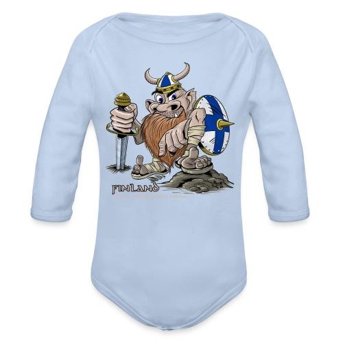 FINLAND VIKING T-paidat, tekstiilit ja lahjaideat - Vauvan pitkähihainen luomu-body