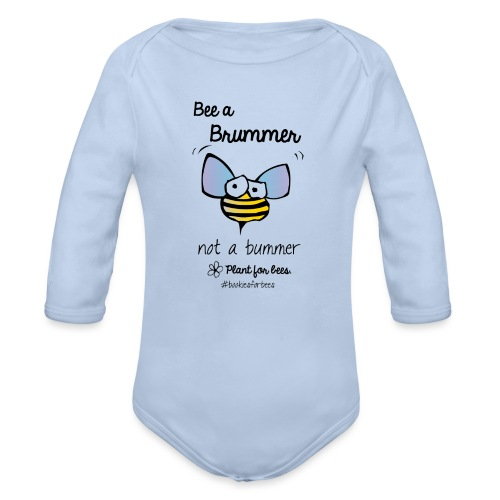 Bees6-1 Save the bees - Organic Longsleeve Baby Bodysuit