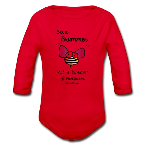 Bees6-2 Save the bees - Organic Longsleeve Baby Bodysuit