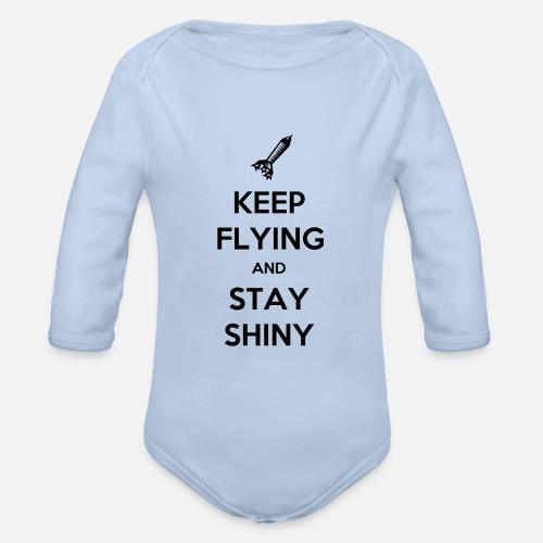 Keep Flying and Stay Shiny - Baby bio-rompertje met lange mouwen