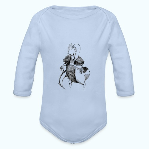 DRAGON STYLE real drawing - Organic Longsleeve Baby Bodysuit