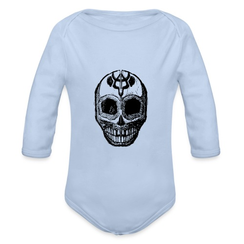 Skull of Discovery - Organic Longsleeve Baby Bodysuit