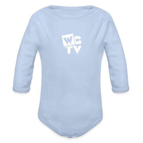 Logo_White - Organic Longsleeve Baby Bodysuit
