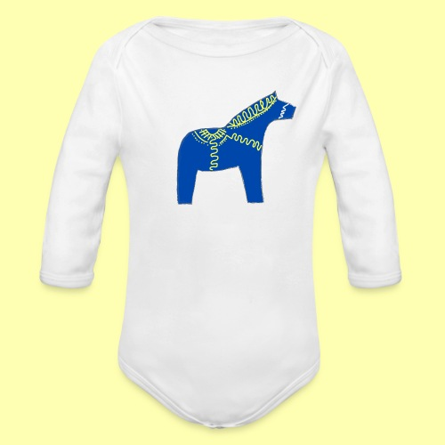 Dala by Pinni Art® blue - Baby Bio-Langarm-Body