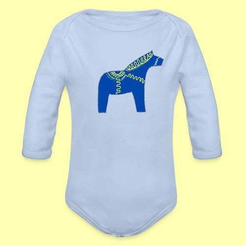 Dala by Pinni Art® blue - Baby Bio-Langarm-Body
