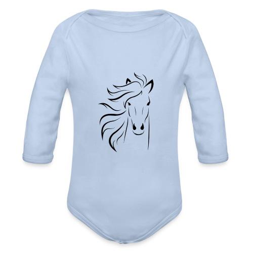 cheval - Body Bébé bio manches longues
