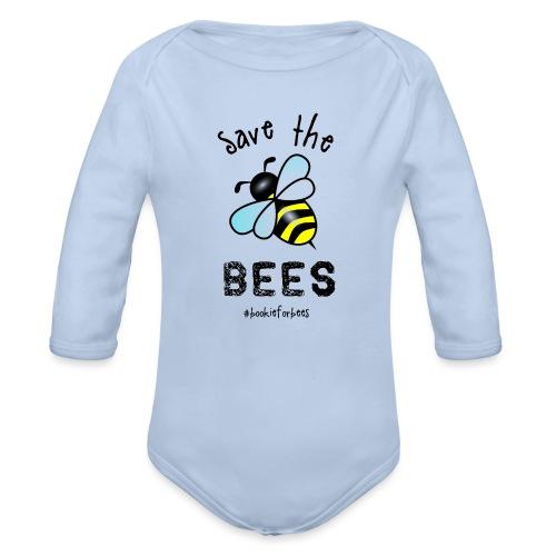 Bees4-1 save the bees | Bookrebels - Organic Longsleeve Baby Bodysuit