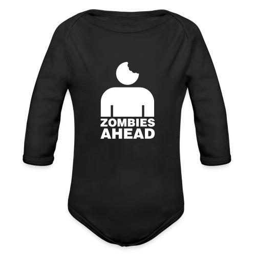 Zombies Ahead - Ekologisk långärmad babybody