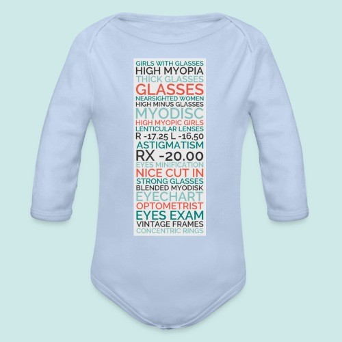 Myopia Poster - Body bébé bio manches longues