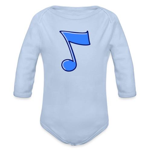 mbtwms_Musical_note - Baby bio-rompertje met lange mouwen