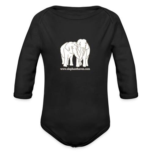 Elephants - Organic Longsleeve Baby Bodysuit