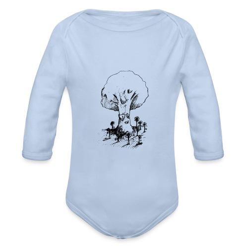Sage Tree - Organic Longsleeve Baby Bodysuit