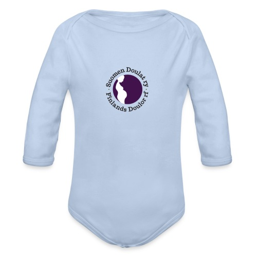 Suomen Doulat ry logo - Vauvan pitkähihainen luomu-body