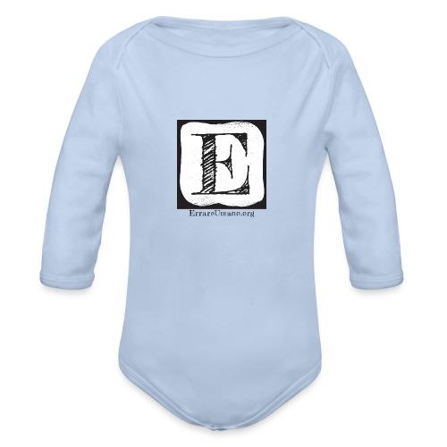 Logo ErrareUmano (scritta nera) - Body ecologico per neonato a manica lunga