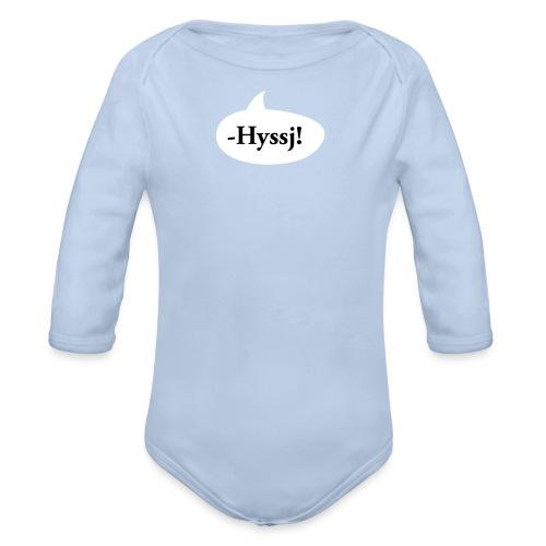 HYSSJ! - Ekologisk långärmad babybody