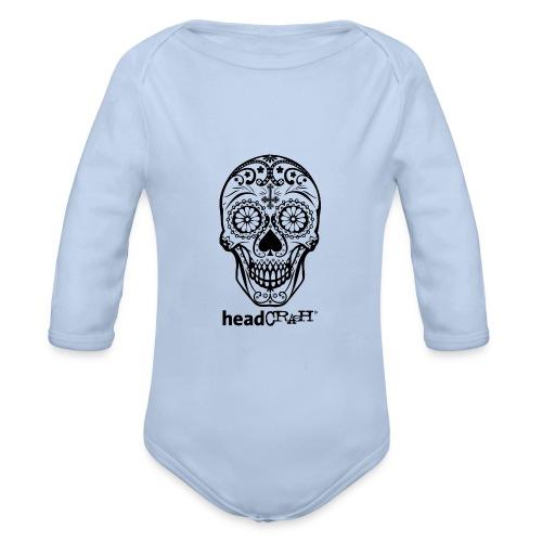 Skull & Logo black - Baby Bio-Langarm-Body