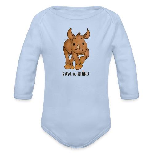 Save the Rhino - Organic Longsleeve Baby Bodysuit