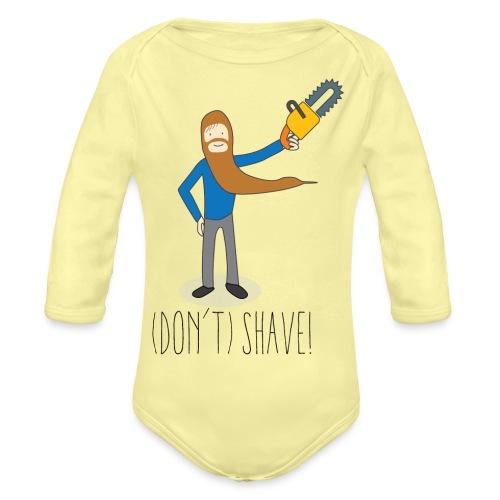 (Don't) SHAVE! - Body ecologico per neonato a manica lunga