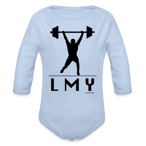170106 LMY t shirt vorne png - Baby Bio-Langarm-Body