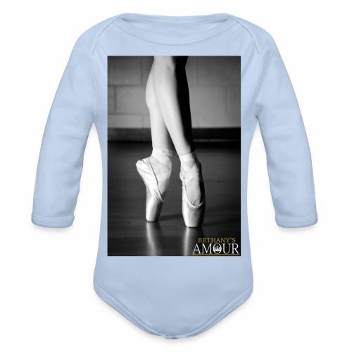 Bethany's Amour Ballet Logo - Organic Longsleeve Baby Bodysuit
