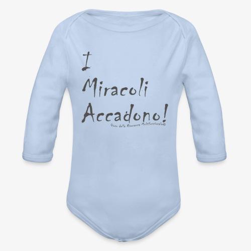 i miracoli accadono - Body ecologico per neonato a manica lunga