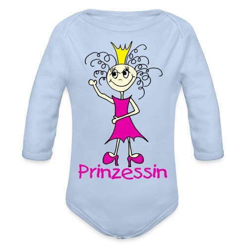 Prinzessin - Baby Bio-Langarm-Body