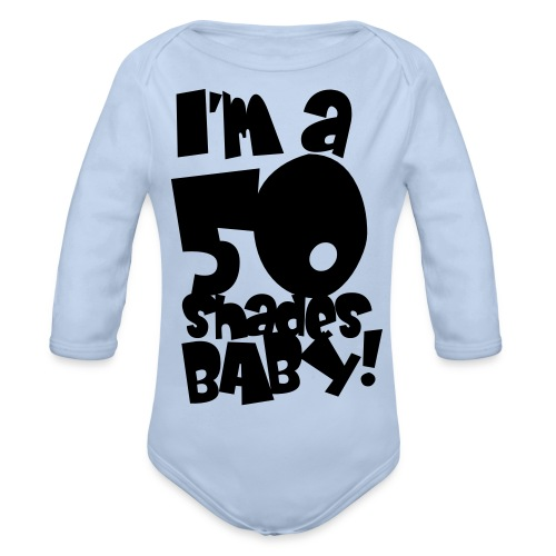 50 shades - Organic Longsleeve Baby Bodysuit