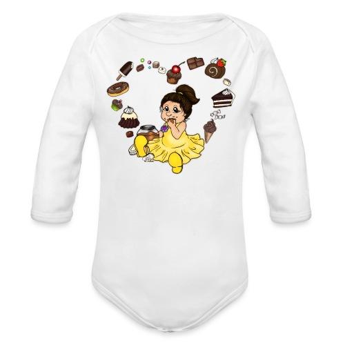 Schokoline und ihr süßer Traum - Baby Bio-Langarm-Body