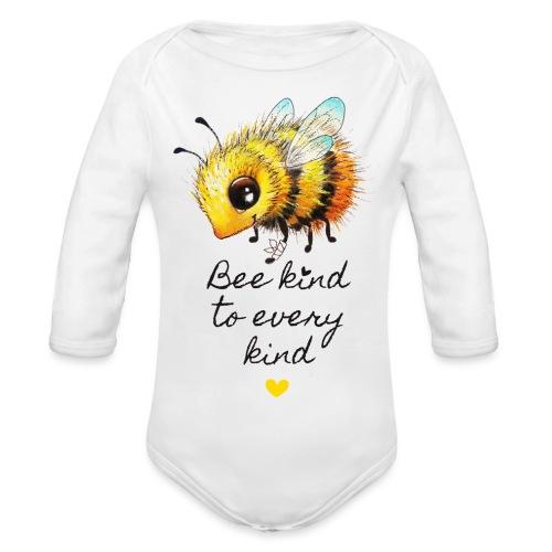 Bee kind - Organic Longsleeve Baby Bodysuit
