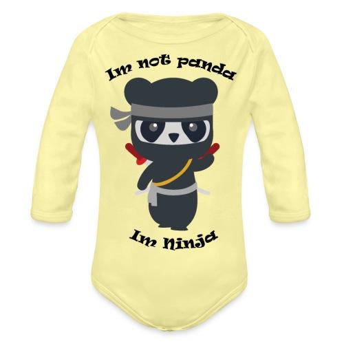 Non sono un Panda - Body ecologico per neonato a manica lunga
