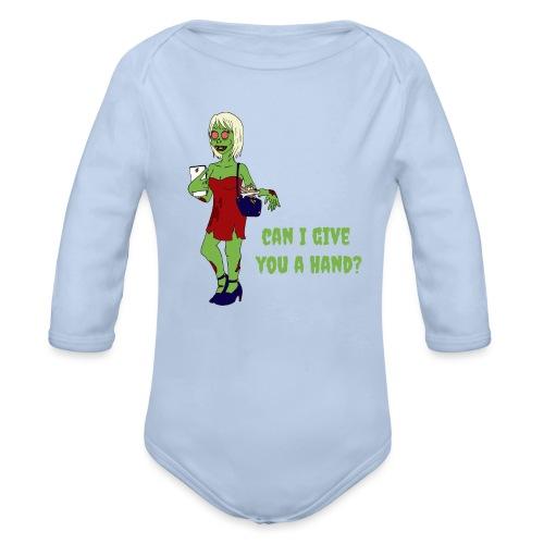 give a hand - Organic Longsleeve Baby Bodysuit
