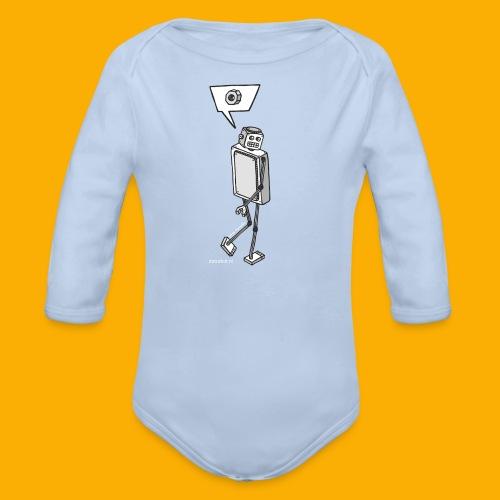 Dat Robot: Nerd Flirt Woman - Baby bio-rompertje met lange mouwen