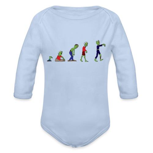 Zombie Evolution - Organic Longsleeve Baby Bodysuit