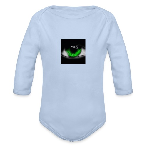 Green eye - Organic Longsleeve Baby Bodysuit