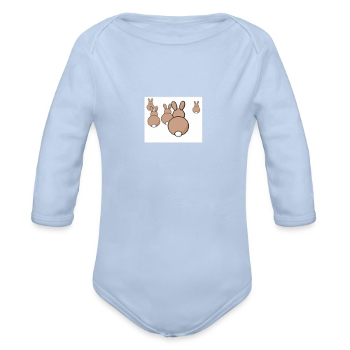 Kaninchen - Baby Bio-Langarm-Body