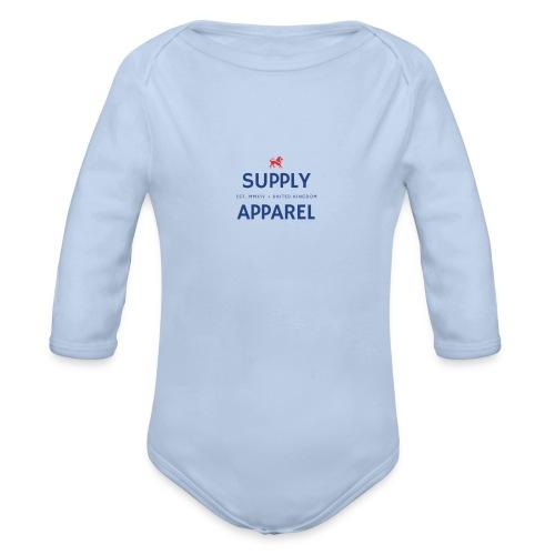 Plain EST logo design - Organic Longsleeve Baby Bodysuit