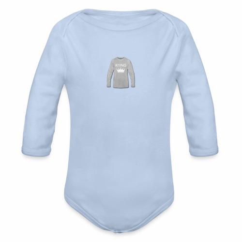 K1ING - t-shirt mannen - Baby bio-rompertje met lange mouwen