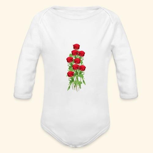 rote rosen - Baby Bio-Langarm-Body