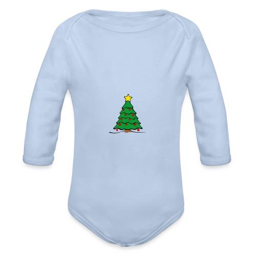 Christmas-Tree - Baby Bio-Langarm-Body