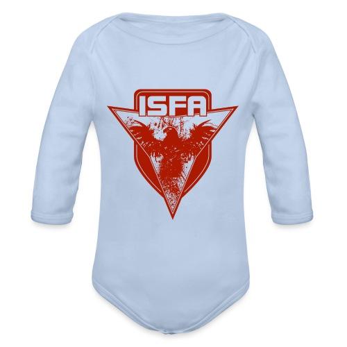 isfa logo 1c rot - Baby Bio-Langarm-Body