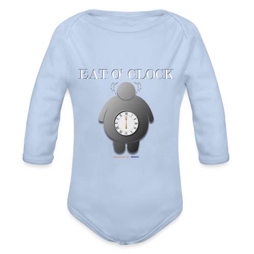 Eat o clock tshirt - Body Bébé bio manches longues