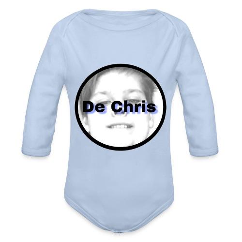 De Chris logo - Baby bio-rompertje met lange mouwen