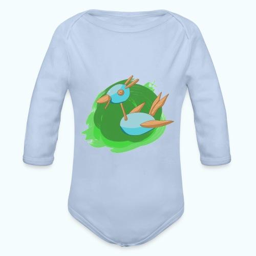 WOOD FREE real drawing - Organic Longsleeve Baby Bodysuit