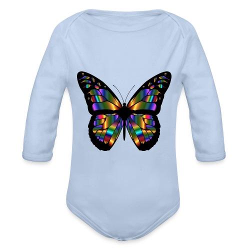 papillon design - Body Bébé bio manches longues