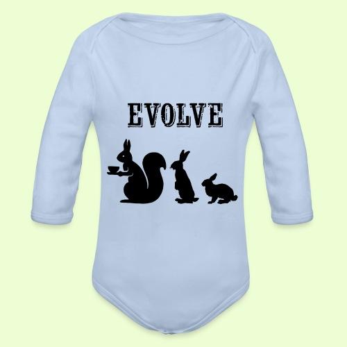 EvolveBunny - Baby bio-rompertje met lange mouwen
